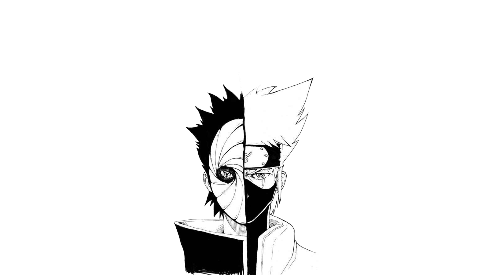Naruto Wallpaper Black And White Dengan Gambar Drawing