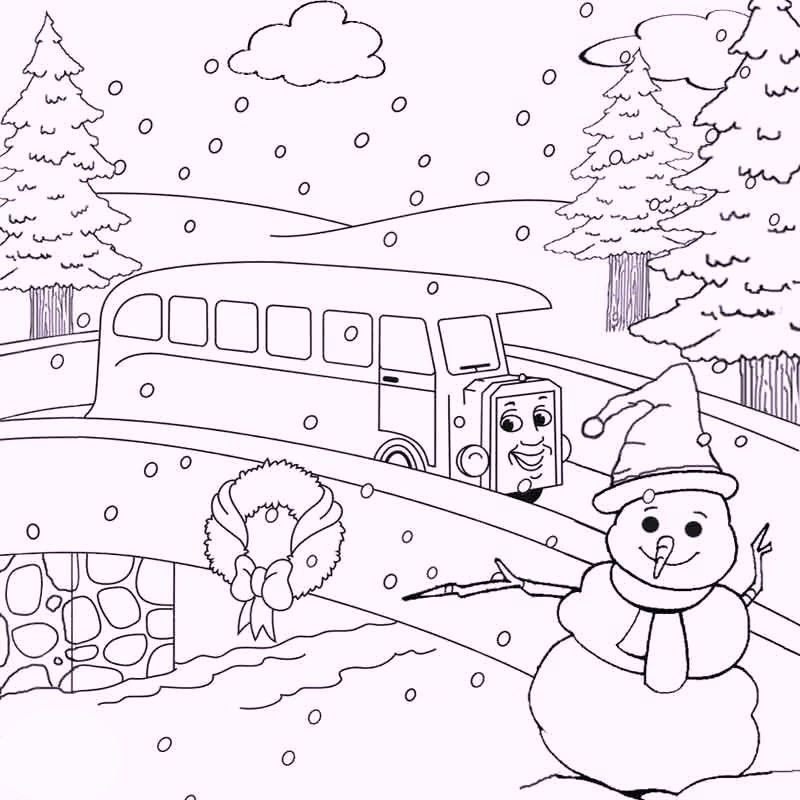 Snowman And Train Winter Games Coloring Pages Free Christmas Coloring Pages Coloring Pages Winter Christmas Coloring Pages
