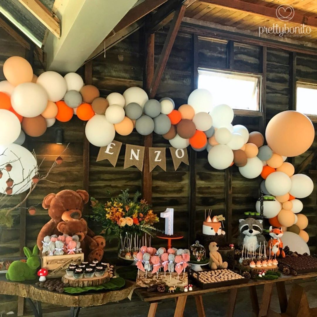 Image May Contain Indoor Camping Theme Birthday Party Boy Birthday Parties Baby Boy 1st Birthday Party
