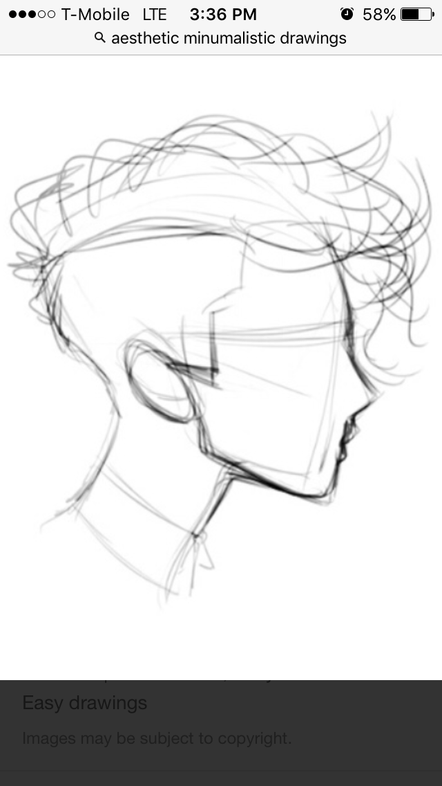 How to draw hair easy male