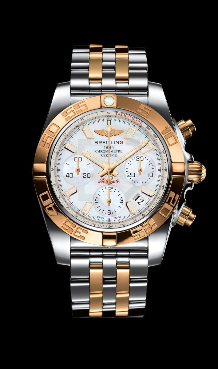 31559d6dbc7a Limited Edition Chronomat 41 watch by Breitling - Two-tone steel and 18K  rose gold case and Pilot bracelet.