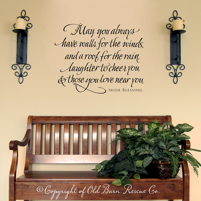 Love It Irish Blessing Vinyl Wall Decals  Stickers Blessing - Nursery wall decals ireland