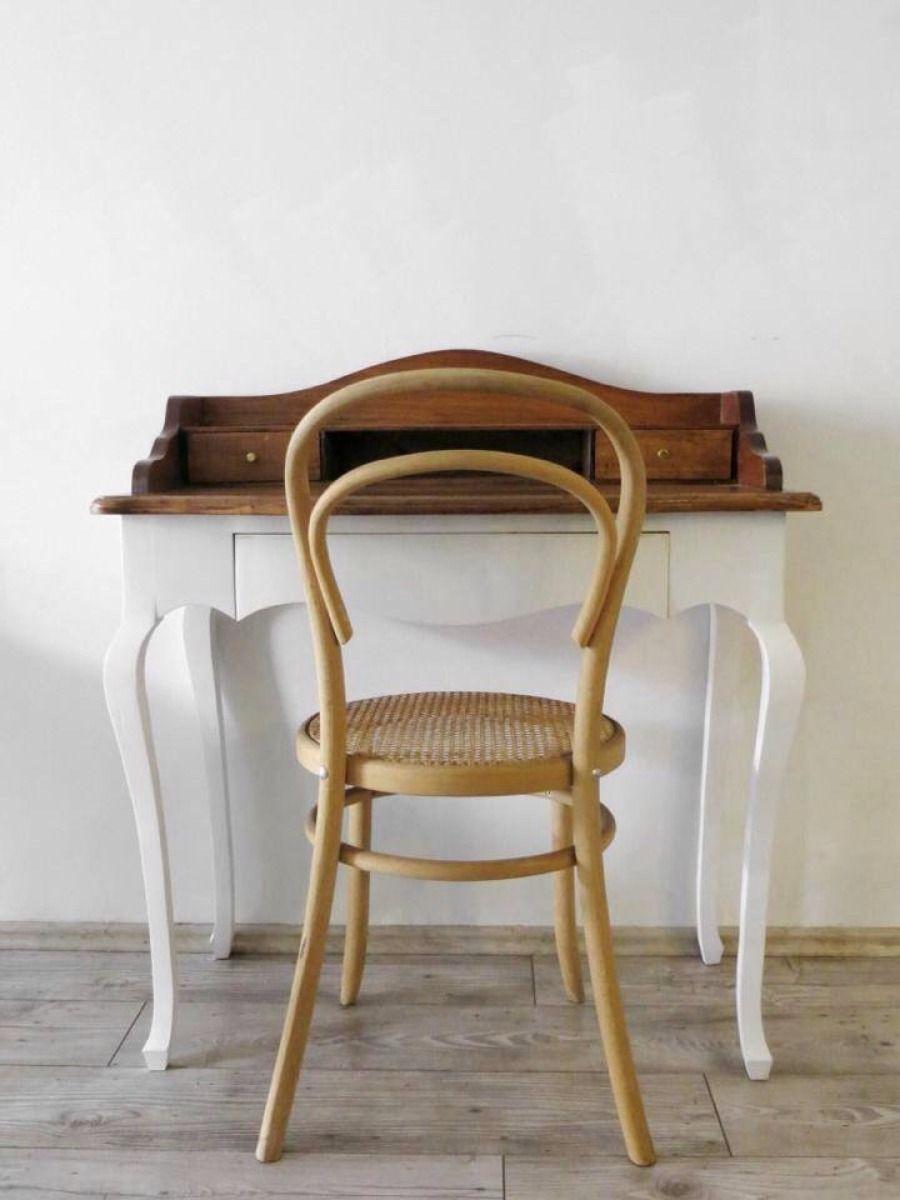Secreter escritorio tocador madera vintage mueble recamara for Muebles vintage mexico