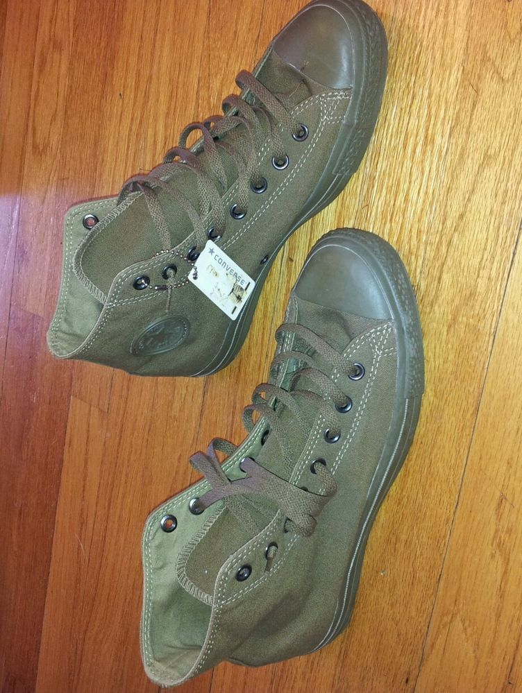 Mens CONVERSE Olive Green CHUCK TAYLOR ALL STAR HI Retro