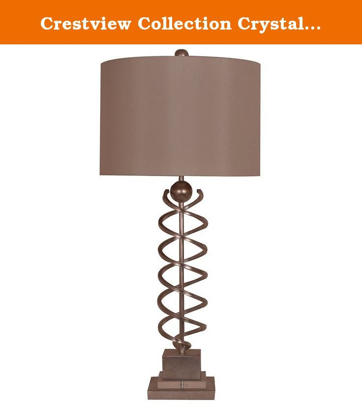 Crestview Collection Crystal Spyral Metal Table Lamp. This Crestview  Collection Table Lamp Will Update Your