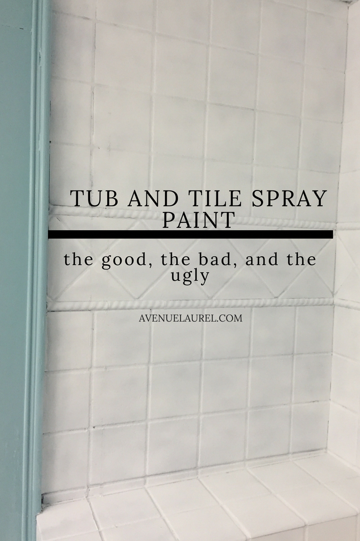 tub and tile spray paint