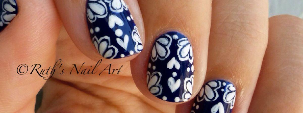 Nail Art Tutorial Spanish Pottery Design Beauty Nails