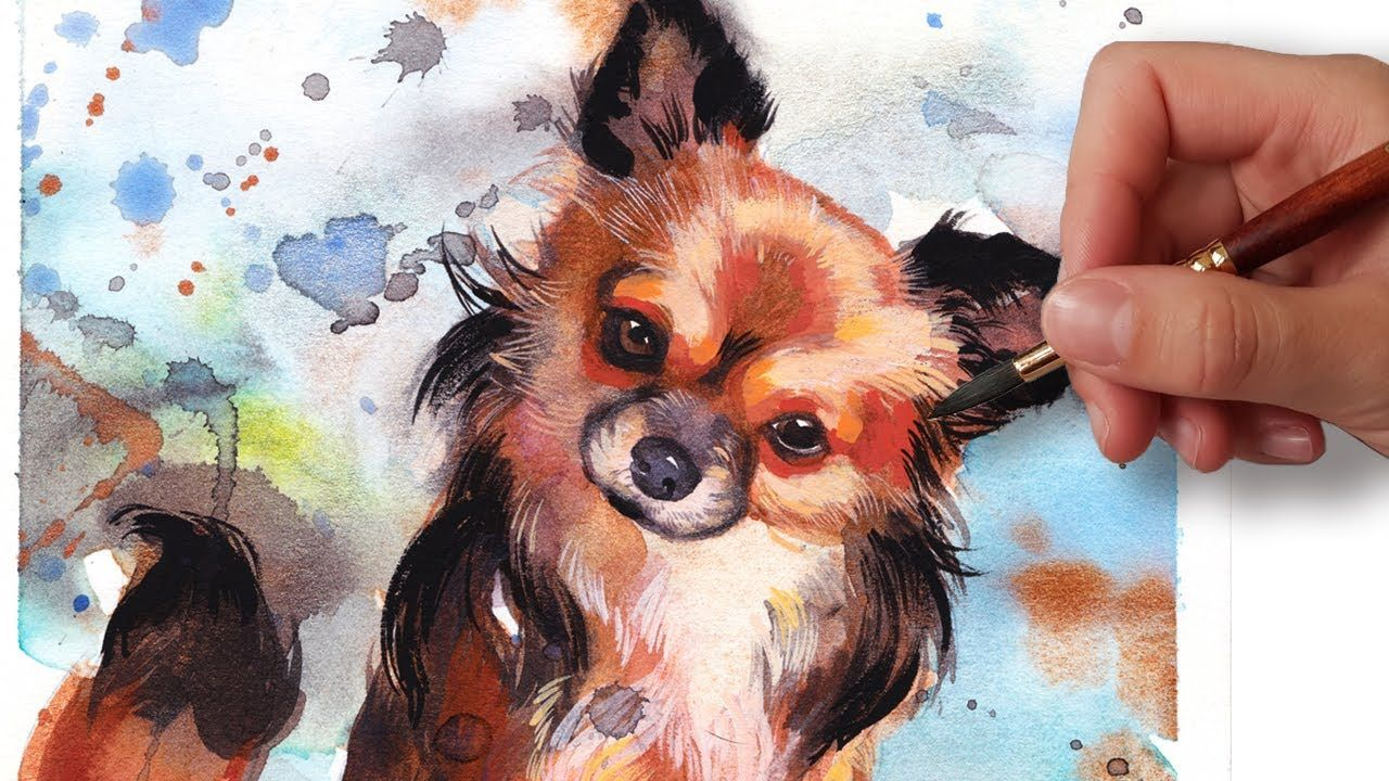 How To Paint A Dog Portrait In 6 Steps Beginner Watercolor