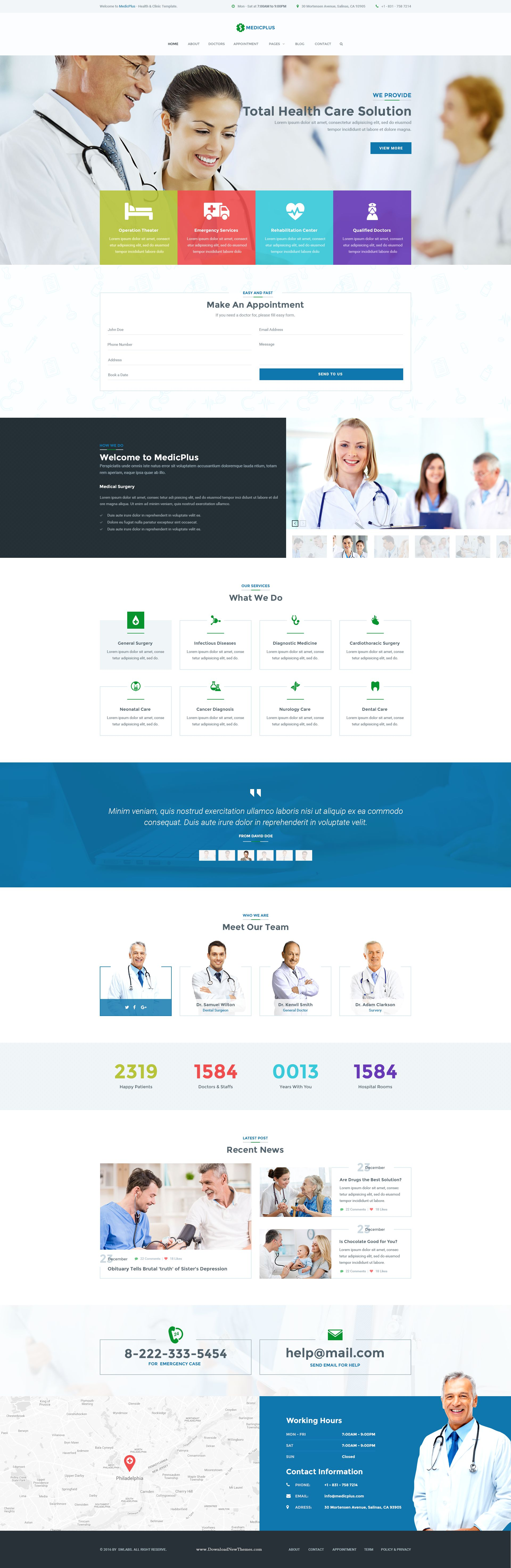 MedicPlus is a PSD template was created especially for Health ...