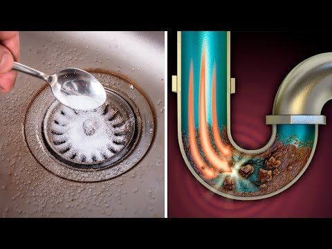 How To Unclog A Kitchen Sink Drain Fast And Cheap Sink Drain Unclog Sink Sink
