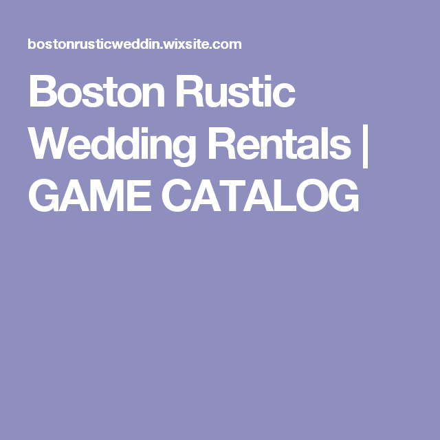 Rustic Wedding Decor And Furniture Rental