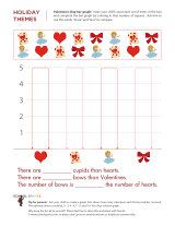 Valentine's Day bar graphing activity. Help your child learn ...