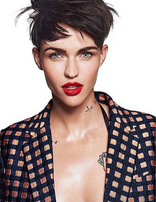 Photos Of Ruby Rose That Have Us Rethinking The Bowl Cut Bowl - Undercut hairstyle ruby rose