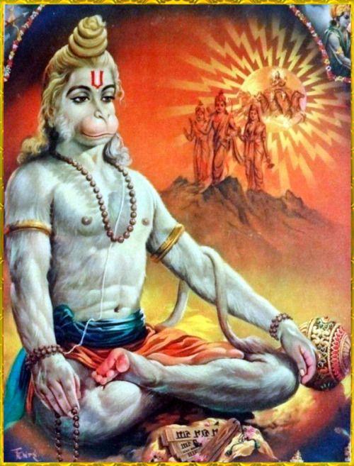 "☀ SHRI HANUMAN ॐ ☀  Please listen to ""Bhagavad Gita as it is"" online: http://gitopanishad.com/"