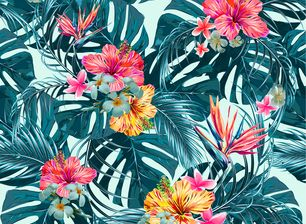 Tropical Dream by SUPERNOVA Seamless Repeat Vector Royalty-Free Stock Pattern #tropicalpattern