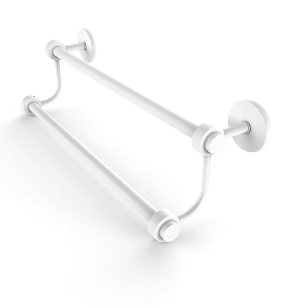 Allied Brass Satellite Orbit Two 36 In Double Towel Bar In Matte White Satellite Orbits Modern Towel Bars Towel