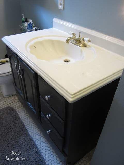 How To Remove A Countertop From Vanity Bathroom Misadventures Decor Adventures
