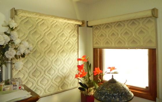 The Quilted Roller Shades Serve As An Amazing Insulator