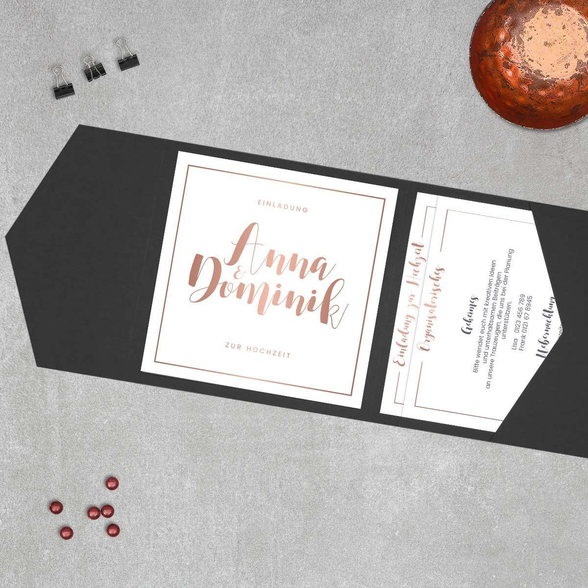 Kalligraphie   Einladung Pocketfold   Das Quadratische Pocketfold Für  Einladungen Mit Mehr Informationen   Praktisch