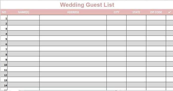 wedding guest lists excel 2 wedding guest list wedding. Black Bedroom Furniture Sets. Home Design Ideas