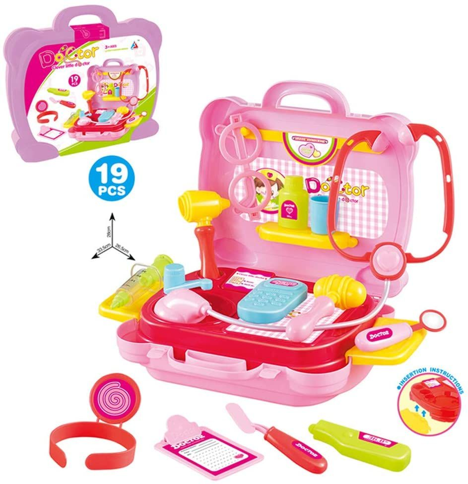10 INCH PLASTIC TOOLS BOX CHILDREN TOYS STORAGE BOX MULTIFUNCTIONAL PORTABLE