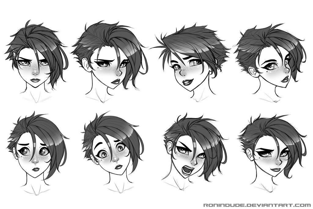 Аниме картинки эмоции парни