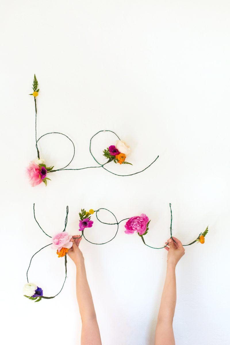 Floral and wire words @lovelyindeed