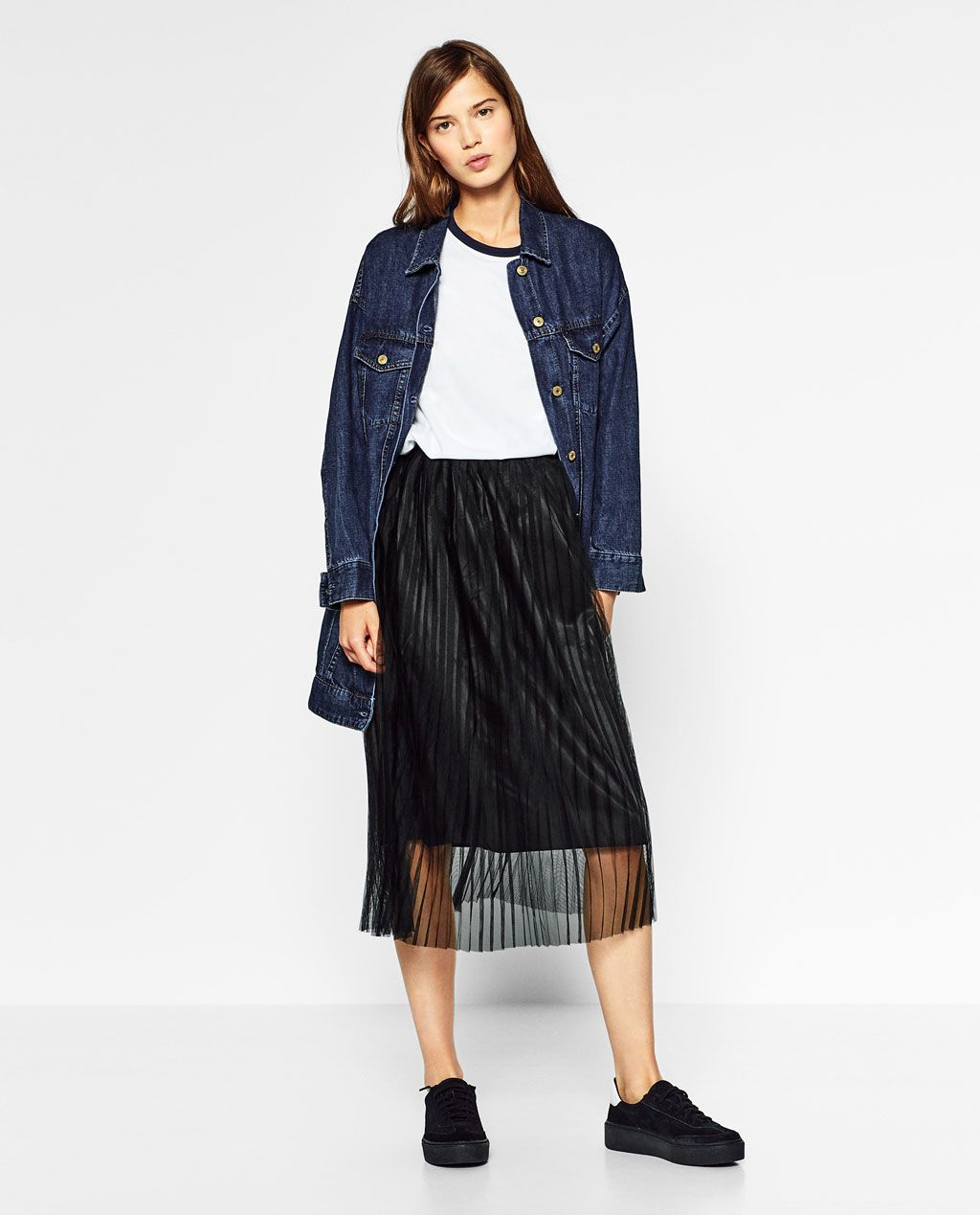 48794e533 Imagen 1 de FALDA TUL PLISADA de Zara | My Style | Faldas de tul ...