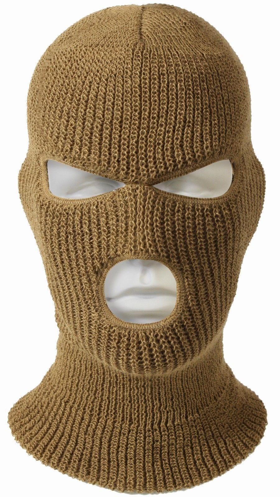 3 Hole Face Mask Ski Mask Winter Cap Balaclava Hood Army Tactical Mask USA  MADE 122f0342e13