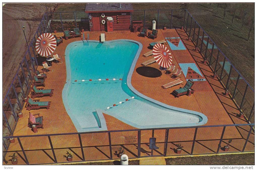 Swimming Pool Westward Ho Motel Grand Forks North Dakota 1940 1960s Home Is Where The