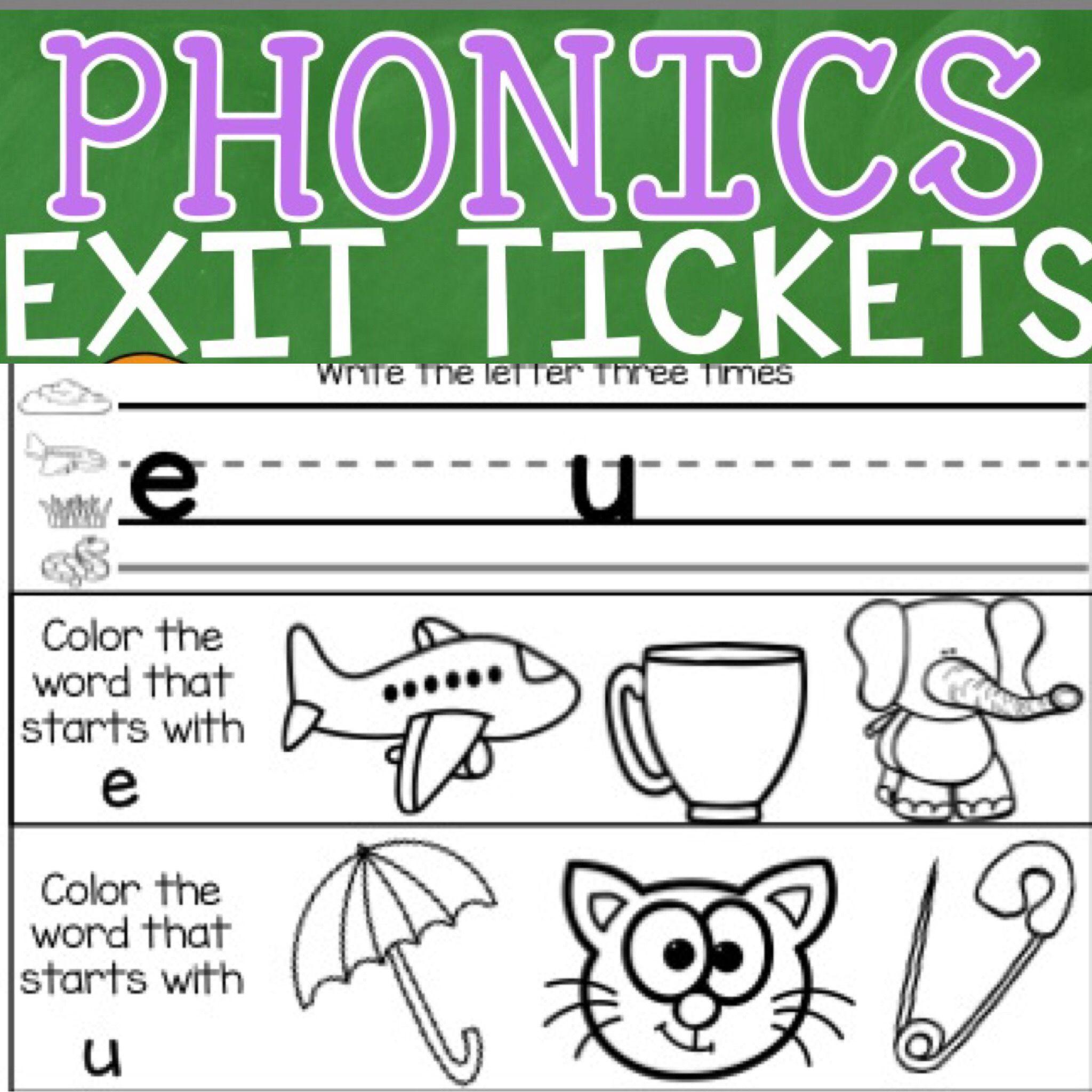 Phonics Exit Tickets Units 1