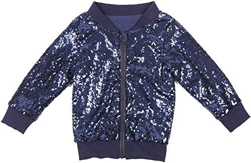 New Sequin Rainbow Jacket Gold Kid Sparkle Pink Zipper Boys Outerwear online shopping – Newofferclothing