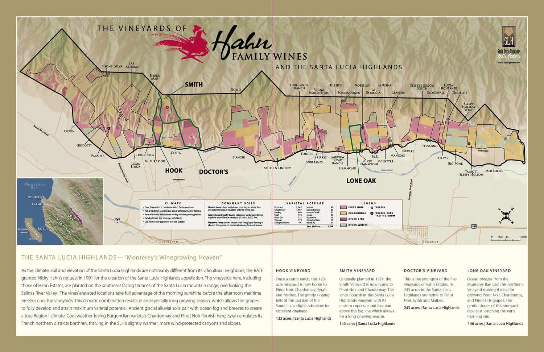 santa lucia highlands map Enlarged Santa Lucia Highlands Ava Map Showing Hook Doctor S santa lucia highlands map
