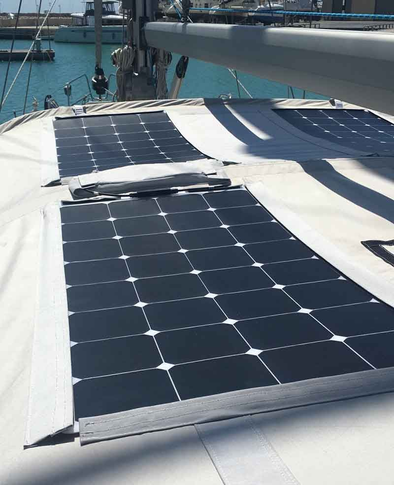 Installing Flexible Solar Panels On Our Bimini Solar Panels Flexible Solar Panels Solar Energy Panels