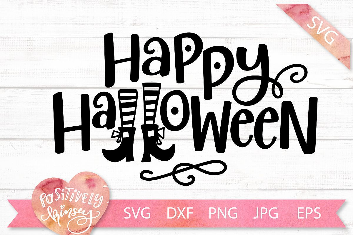 Happy Halloween SVG DXF PNG EPS Halloween Sign SVG Design