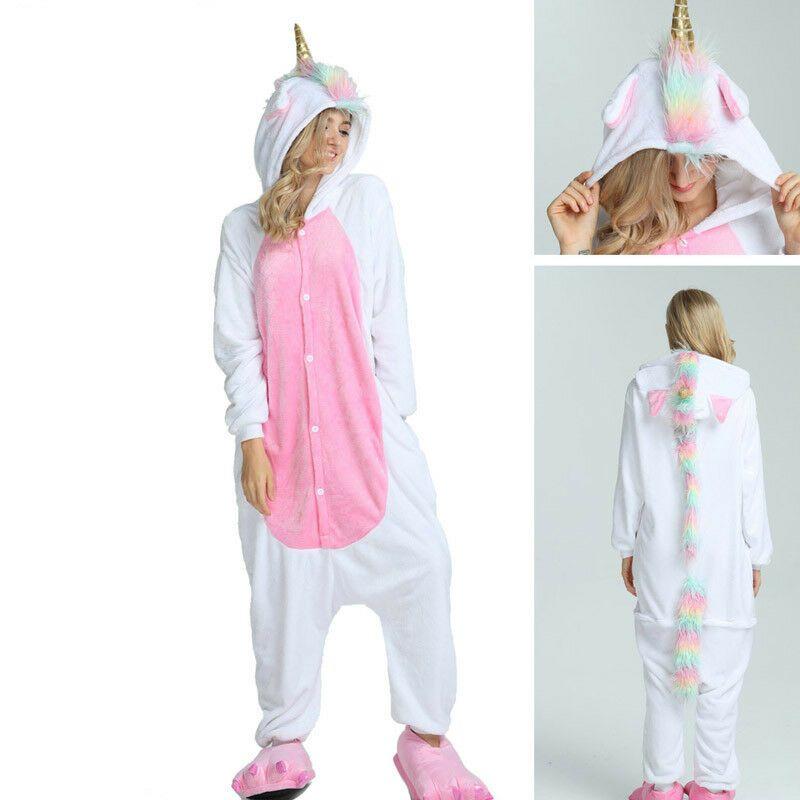 Blue stich christmas deer Pajama Sets Cartoon animal Sleepwear Women Pajama
