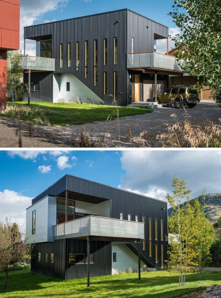 originales diseños de fachadas negras Arquitectura Pinterest - fachadas originales