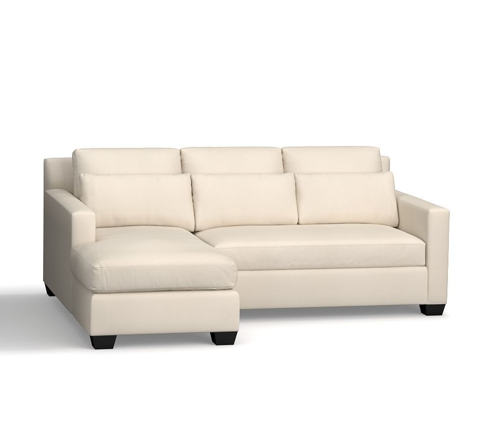 York Square Arm Deep Seat Upholstered Chaise Sofa