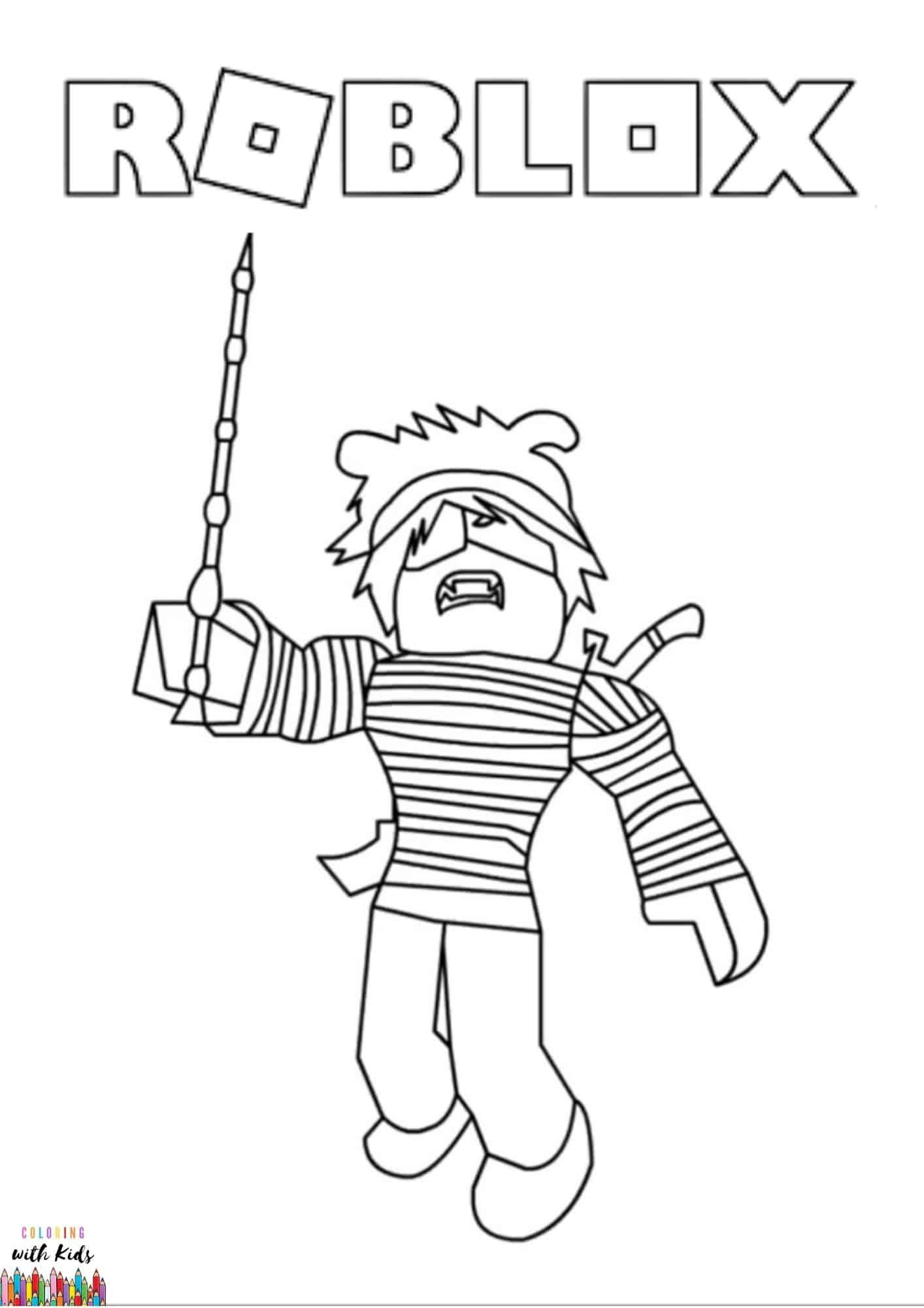 Roblox Coloring Page Image Credit Roblox Avatar Drawing By Yadia Chenia Permission For Personal And In 2020 Coloring Pages Coloring Books Kids Coloring Books