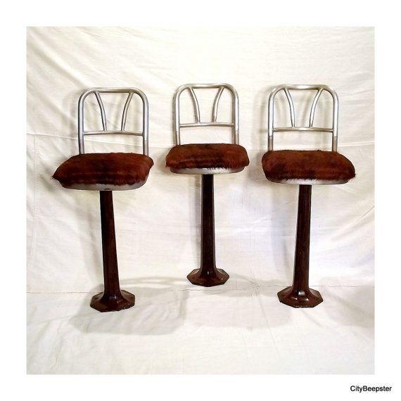 Astounding Diner Time Vintage Soda Fountain Stools Pedestal By Alphanode Cool Chair Designs And Ideas Alphanodeonline