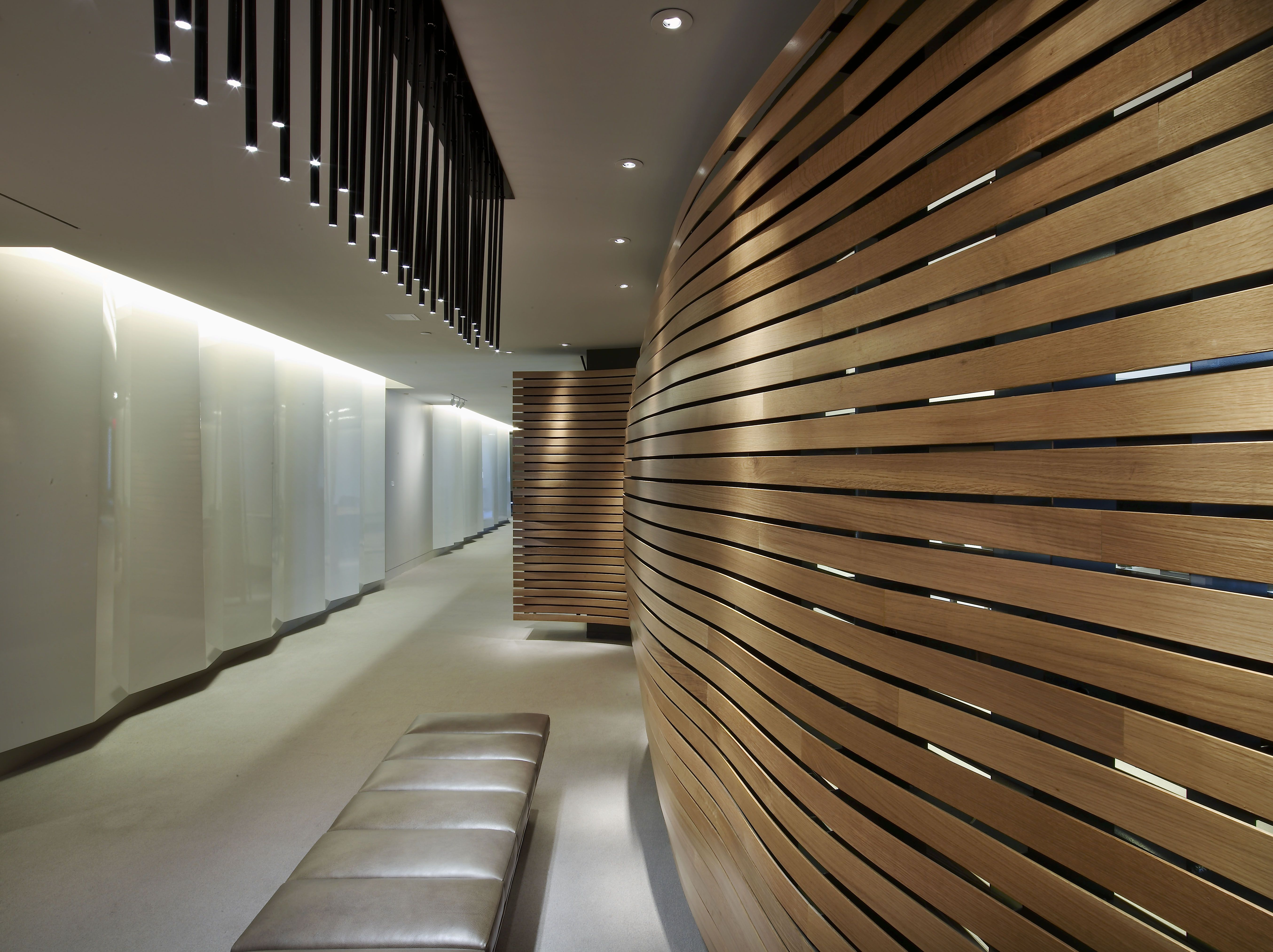 office feature wall. #custom #walls #interiordesign #office #architecture #amuneal Office Feature Wall S