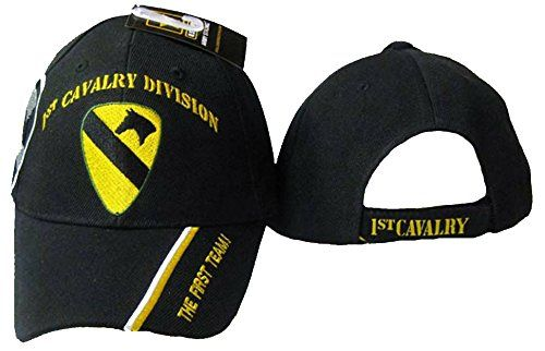 5f138c4c9a7 1st Cavalry Division First Team Baseball Cap Army Hat Mens One Size Black  Buy Caps and