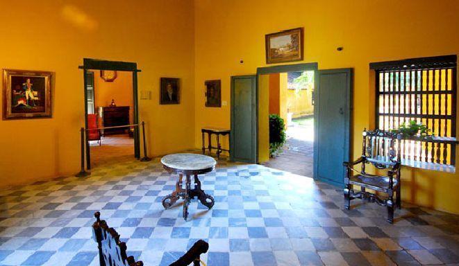 Interior de la casa donde vivió Simón Bolivar.