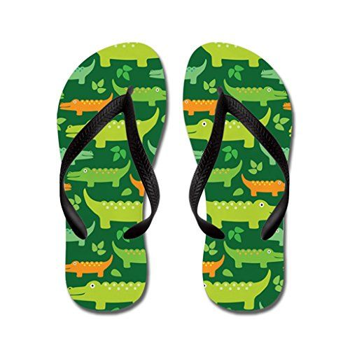 7224ff563 JKYUKO Cute Crocodile Alligator Jungle flip flops Adults MBlue   Find out  more about the great