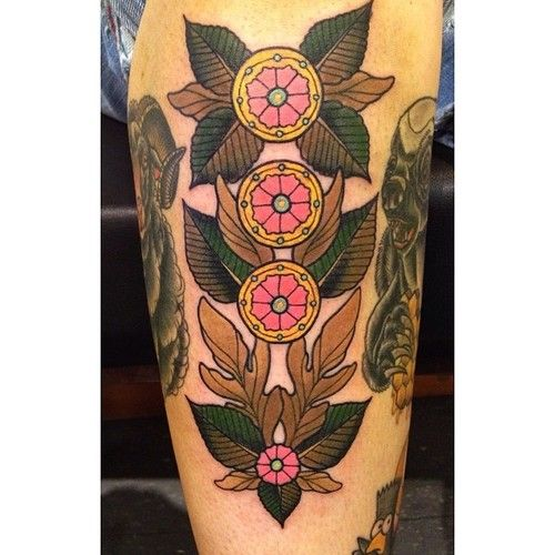 Four of Pentacles tarot tattoo