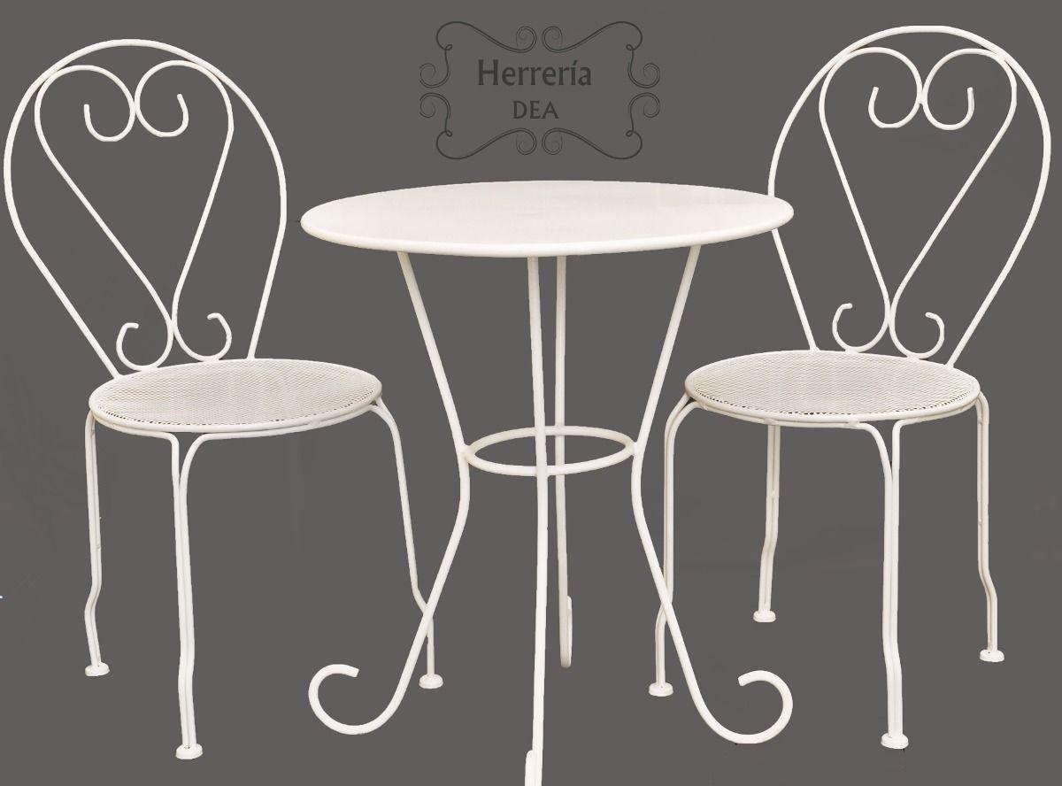 Resultado de imagen de sillas y mesas de hierro - Mesas de hierro para jardin ...