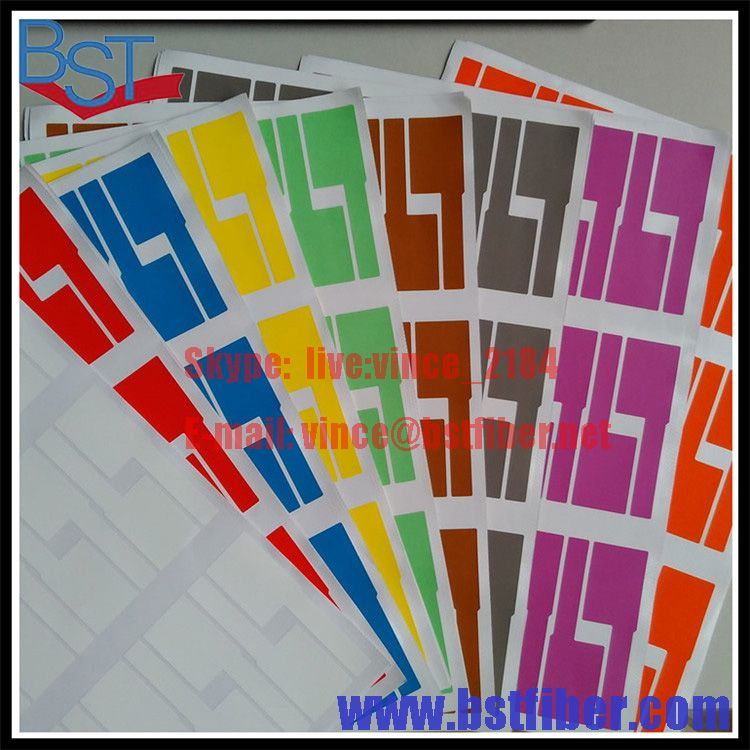 FTTH 광섬유 도구 네트워크 케이블 라벨 스티커 900 개 30 개 A4 크기 색상 빈 라벨 방수 찢김 방지 내유