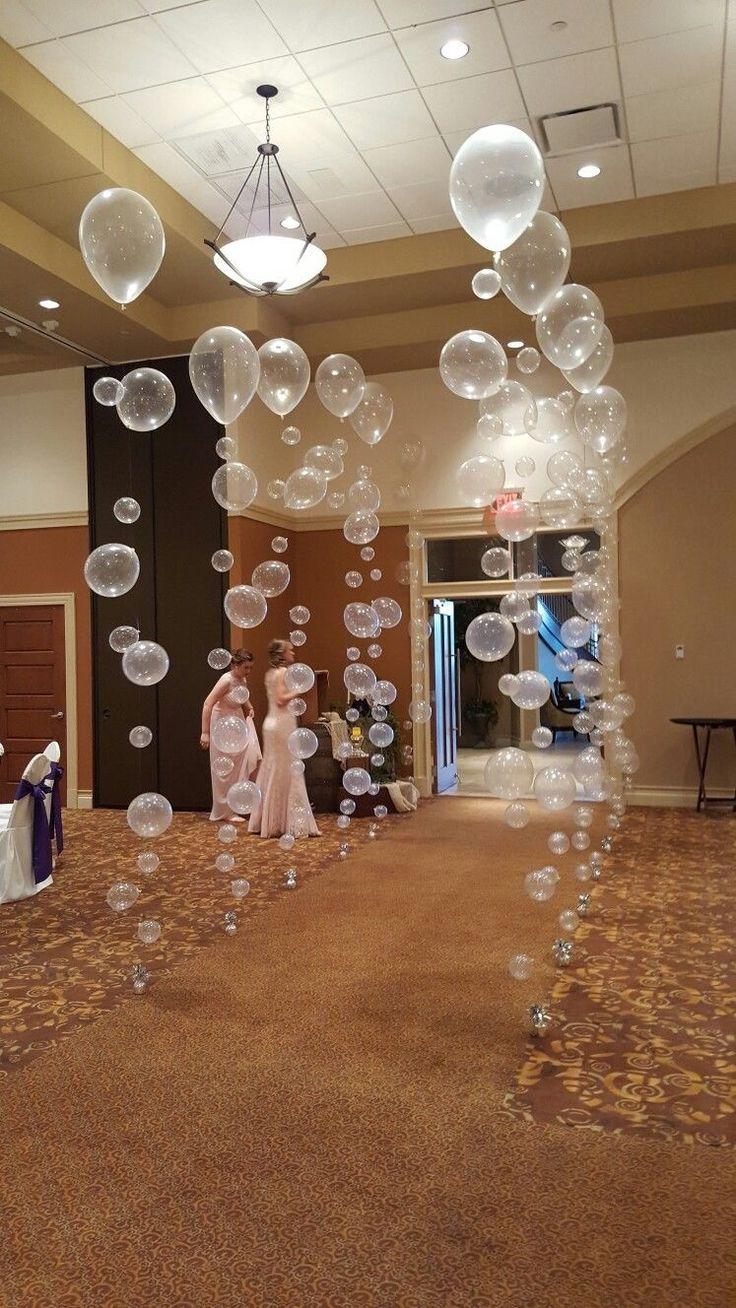 Ballons An Steg See Regenbogen Farben Hochzeit Deko Balonlar Parti Fikirleri Dugun