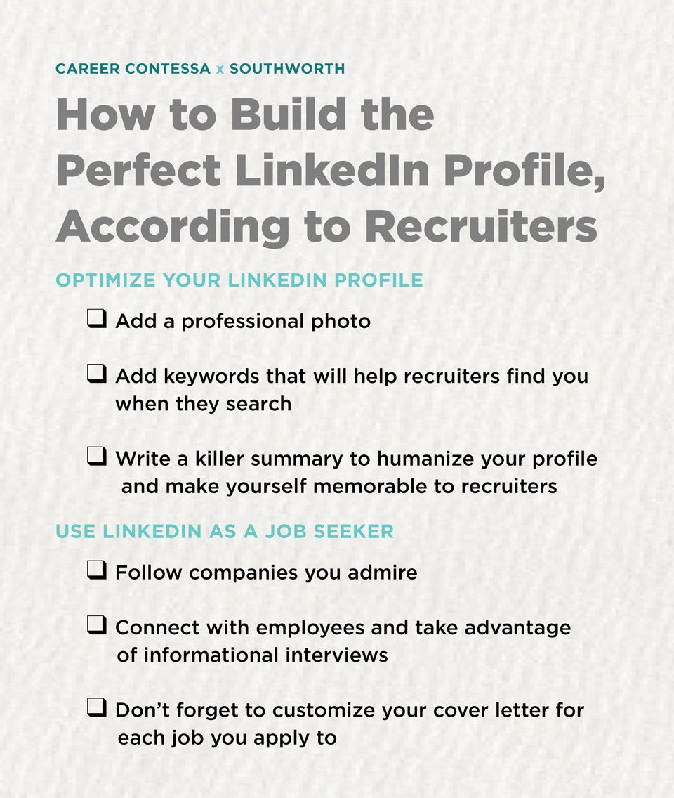 How to Build the Perfect LinkedIn Profile, According to Recruiters ...
