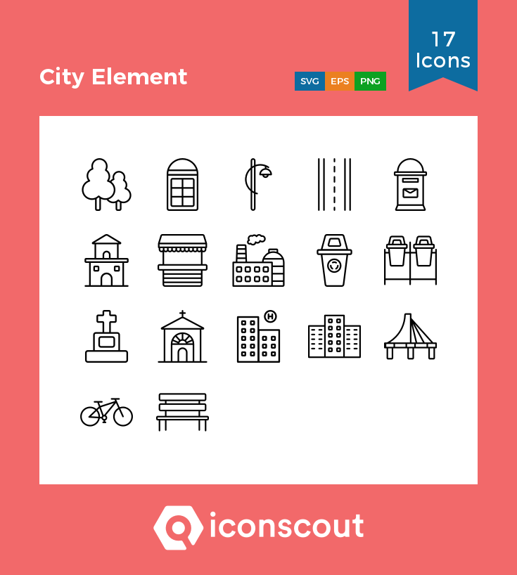 Download City Element Icon Pack Available In Svg Png Eps Ai Icon Fonts Icon Pack Icon Icon Font